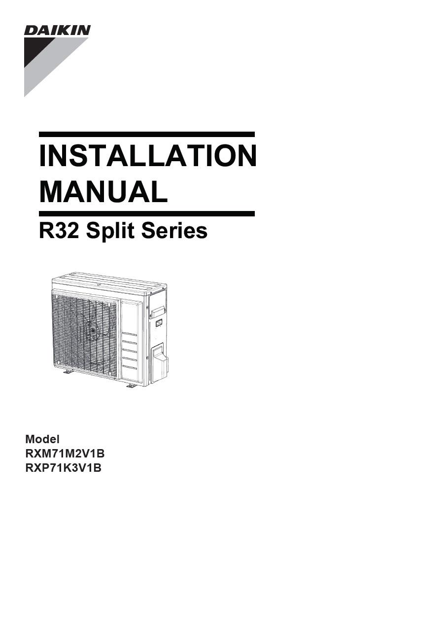 Daikin Installation Manual download Type Air Conditioner